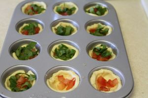 Spinach and Tomato Cups