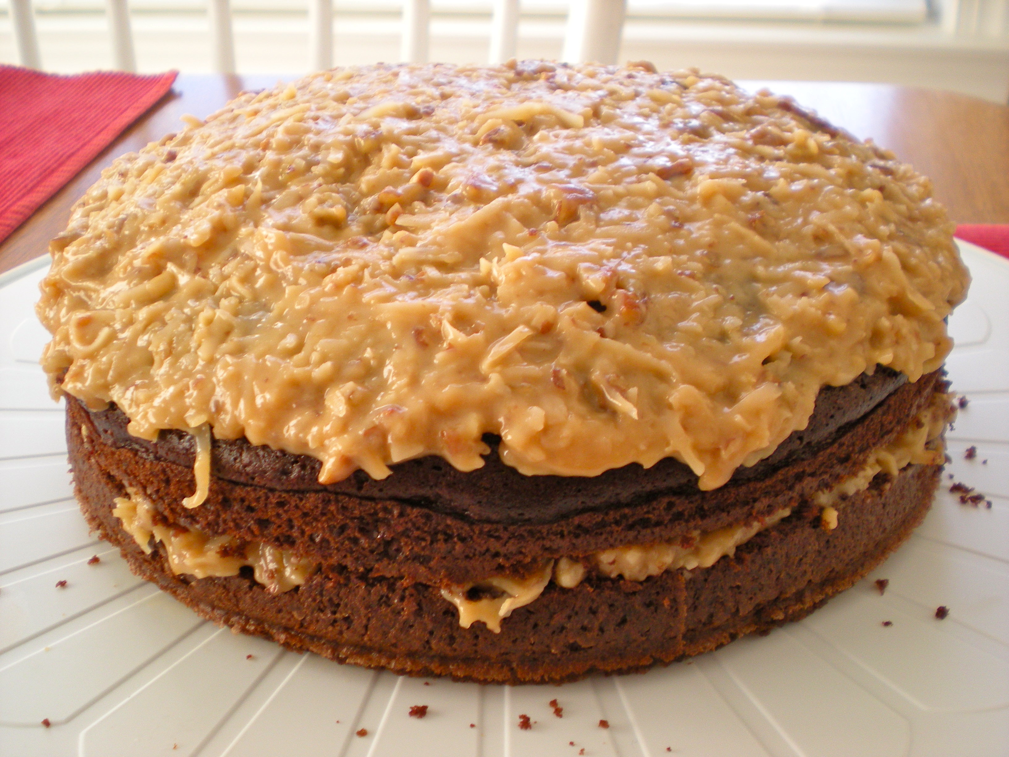 Chocolate Cake With Coconut-Pecan Frosting Recipes — Dishmaps