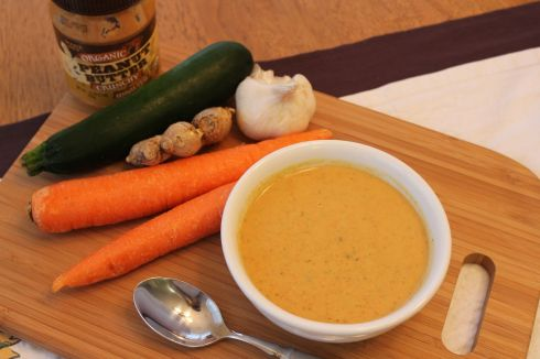 Silky Ginger Peanut Butter Soup